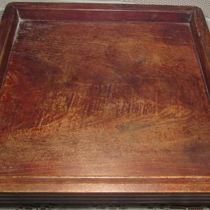 清代老榉木文房盘