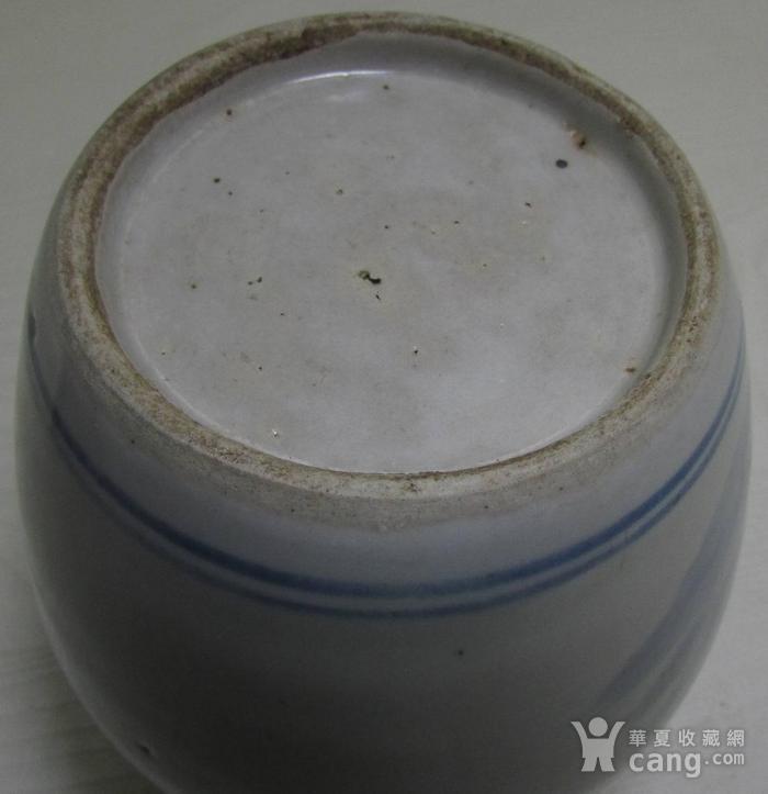 清中晚期青花人物故事罐一对图4