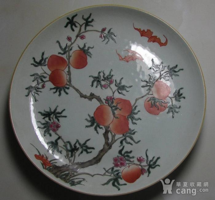 文革粉彩寿桃盘图2