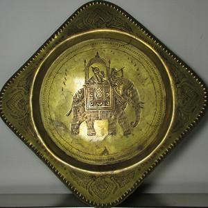 19世纪 錾刻人物故事铜鎏金壁挂饰