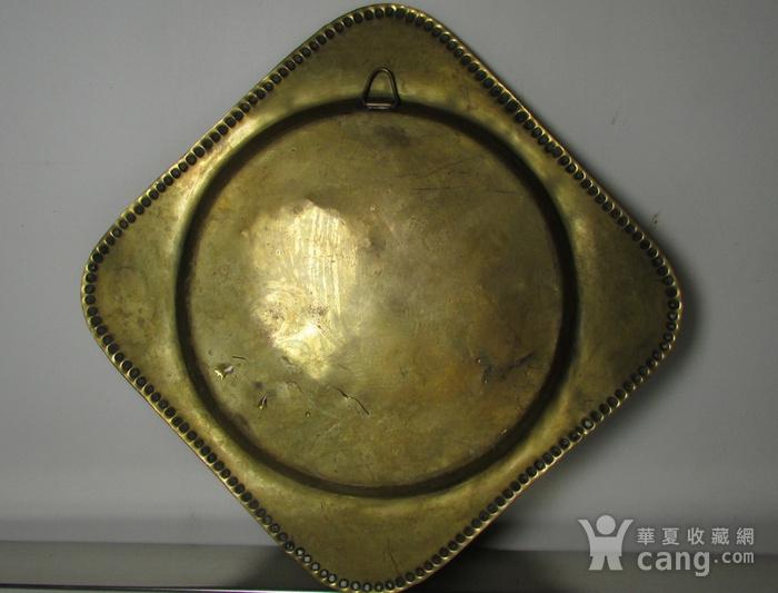 19世纪 錾刻人物故事铜鎏金壁挂饰图6