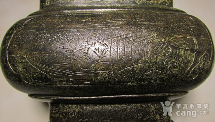 老铜錾刻人物故事狮钮天鸡图10