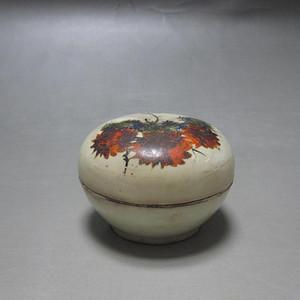 清磁州窑粉彩花卉纹粉盒