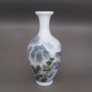 陶瓷工艺美术大师邹国钧粉彩山水人物纹赏瓶