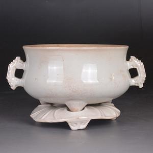 清 漳州窑 白釉 香炉