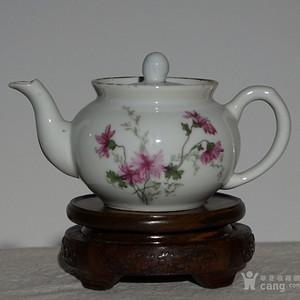 民国粉彩瓷壶