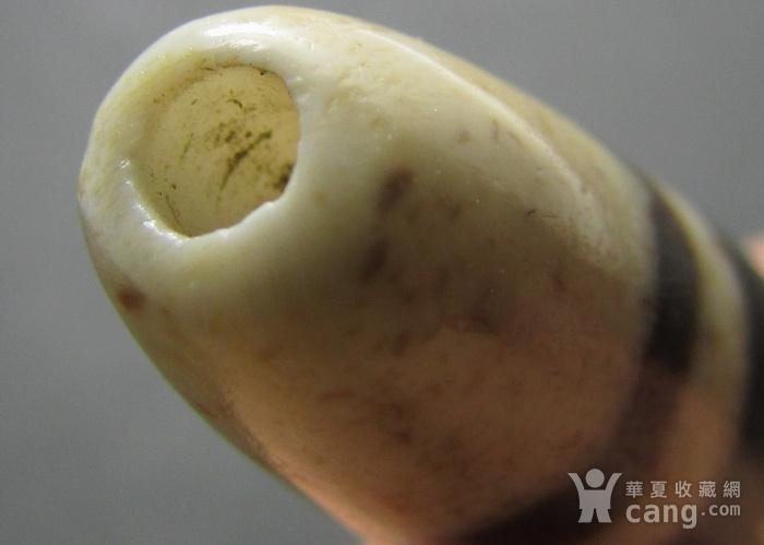 藏传千年镶蚀珠 老十三线线珠 旁系天珠图8