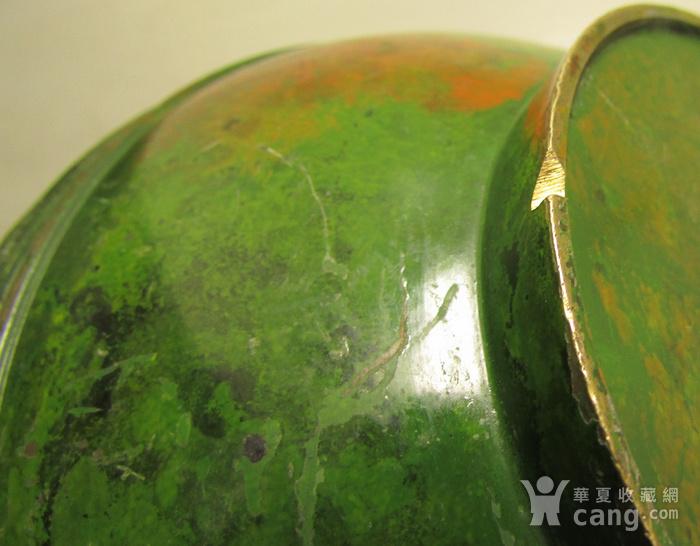 清晚期民国饕餮纹出戟双耳铜瓶图9