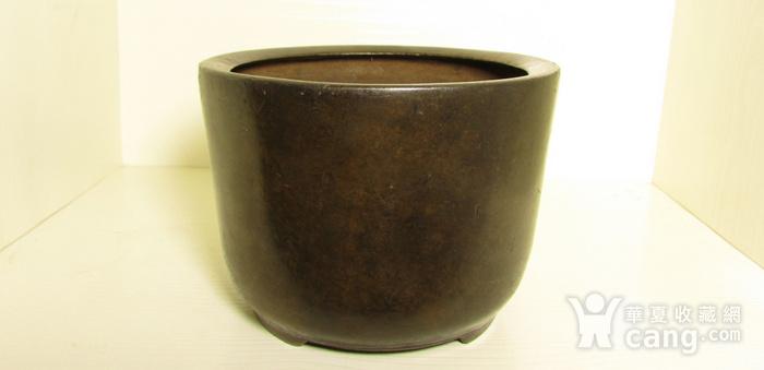 清早期枣皮红铜圆斗型三足香炉图1
