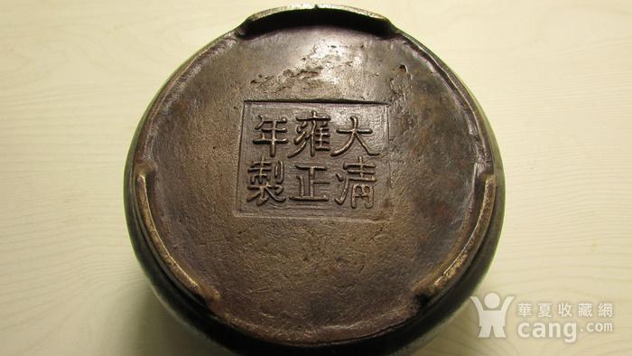 清早期枣皮红铜圆斗型三足香炉图8