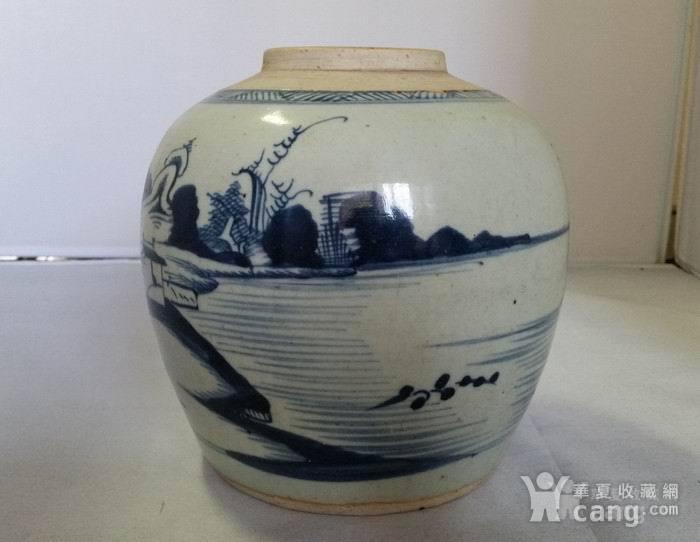 乾隆青花通景山水罐图2