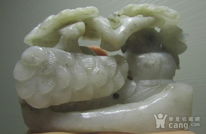 清代和田白玉青花籽料和合二仙大摆件图3