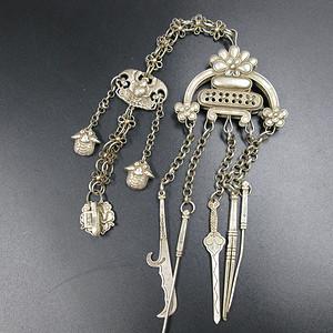 福祷纹足银挂链