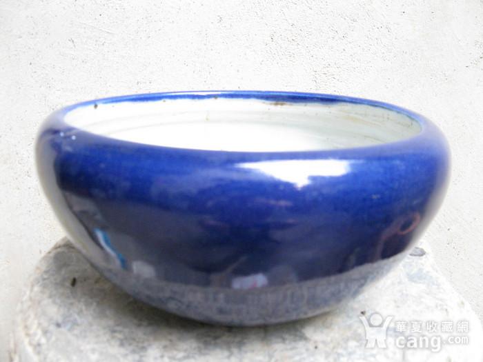 宝石蓝釉大香炉图1