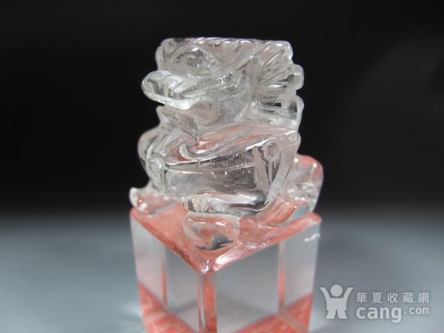 明代白水晶狮钮护封印 图4
