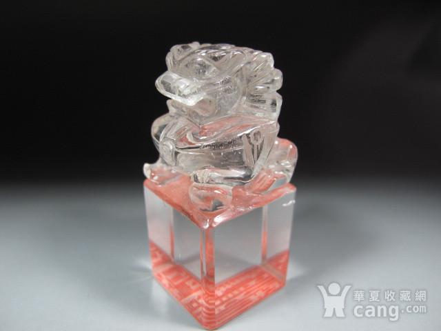 明代白水晶狮钮护封印 图5