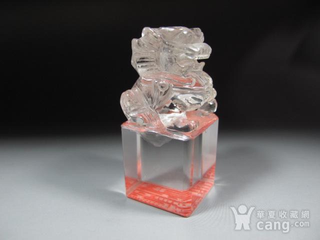 明代白水晶狮钮护封印 图6