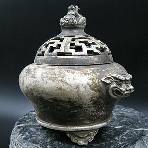 欧美回流 精铜鎏银熏香炉