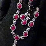 精品天然缅甸红宝石套装