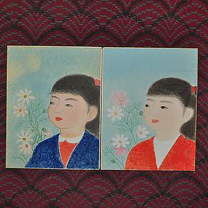 日本仕女画两幅