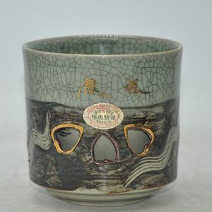 日本相马烧大号茶杯