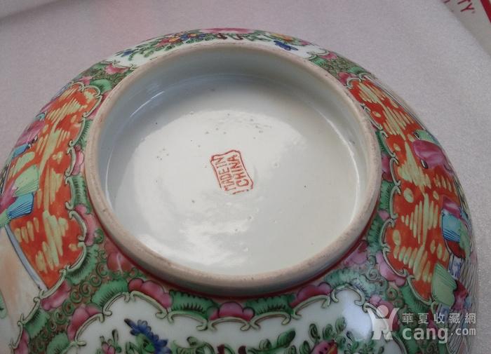 民国广彩人物大碗直径25.2公分包真包老图4