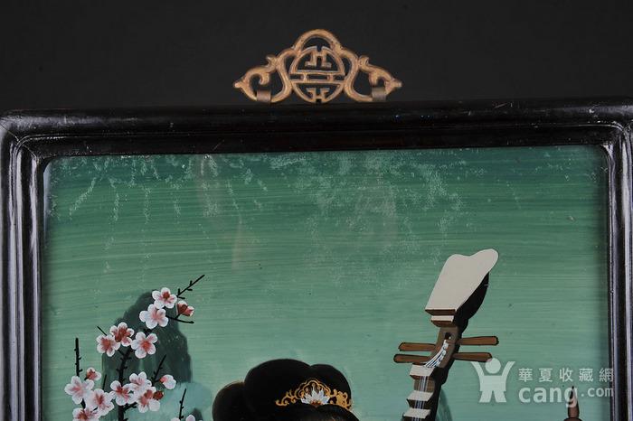 欧美回流 出口创汇 漂亮反向玻璃画琵琶仕女图图8