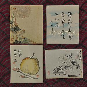 日本字画四幅