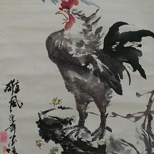 李源生花鸟画作品精裱立轴