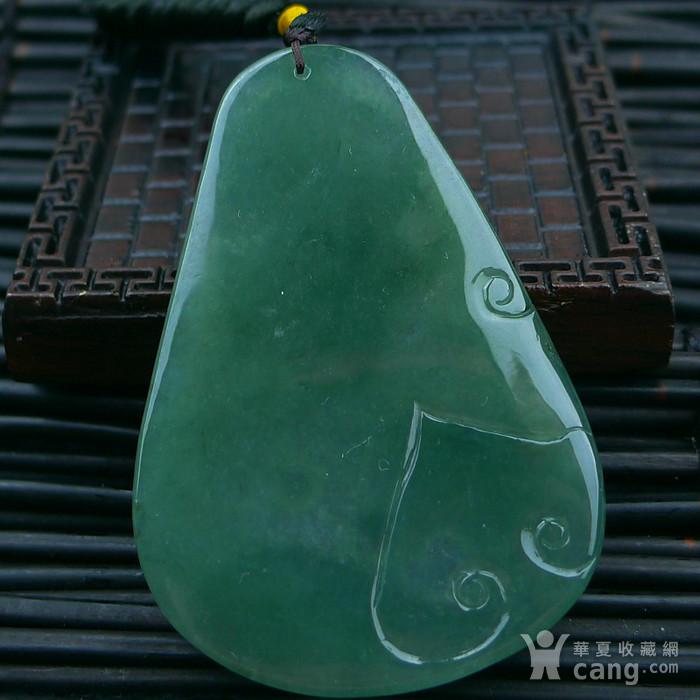 冰润绿降龙罗汉吊坠图3