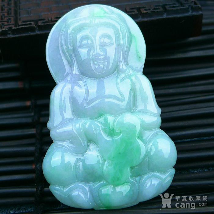 冰润带绿观音吊坠图8