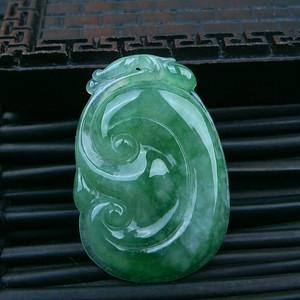冰种绿如意吊坠
