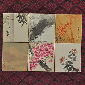 日本画六幅