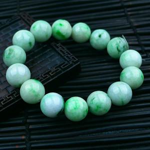 冰润带绿圆珠手链