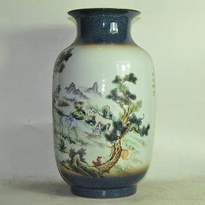 杨晓华作品贴花瓷瓶