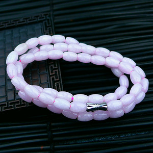 冰润粉紫米粒通项链