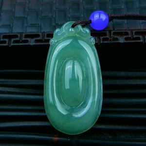 冰润绿福贝吊坠