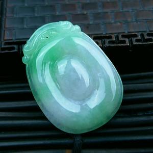 冰润绿左右逢源吊坠