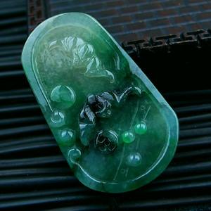 冰种带绿福禄寿吊坠