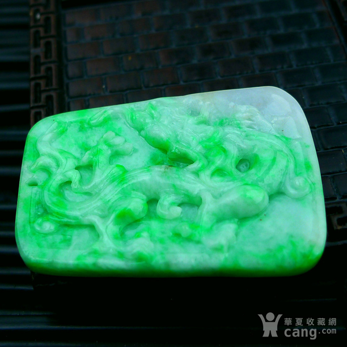 冰润绿飞龙在天吊坠图5