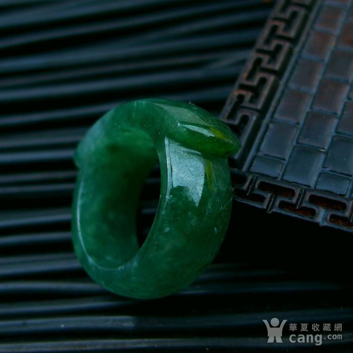 冰润满绿马鞍形戒指图6