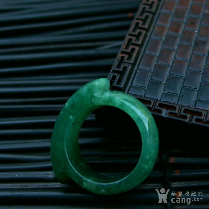 冰润满绿马鞍形戒指图7