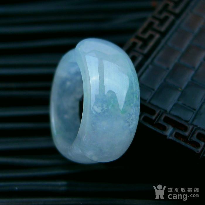 冰种绿马鞍形戒指图1
