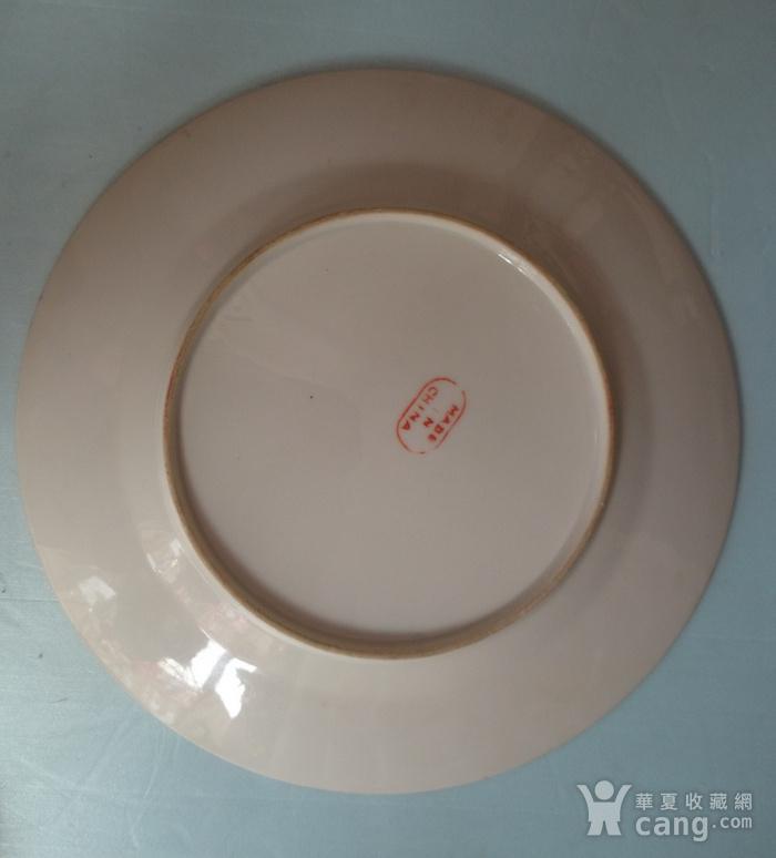 民国广彩花鸟纹盘含纪年标识全品直径21.5公分图5