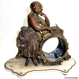 18世纪法国鎏金铜像思春少女