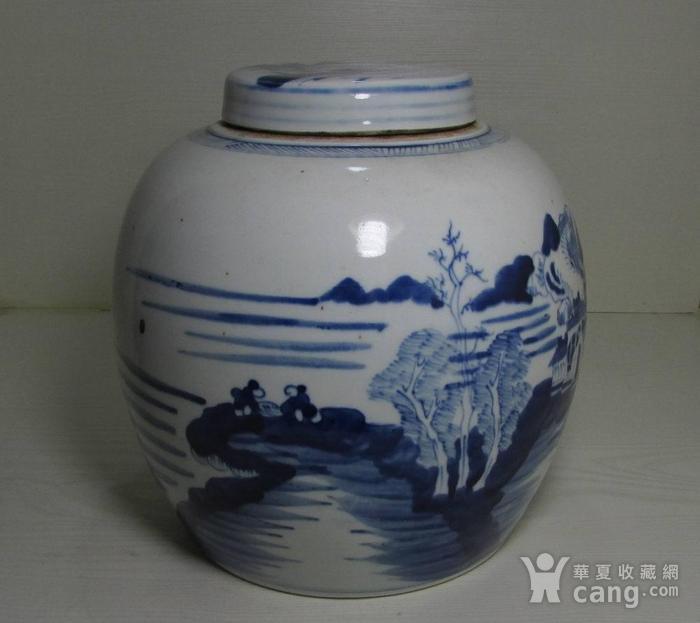 乾隆青花通景山水大罐图2