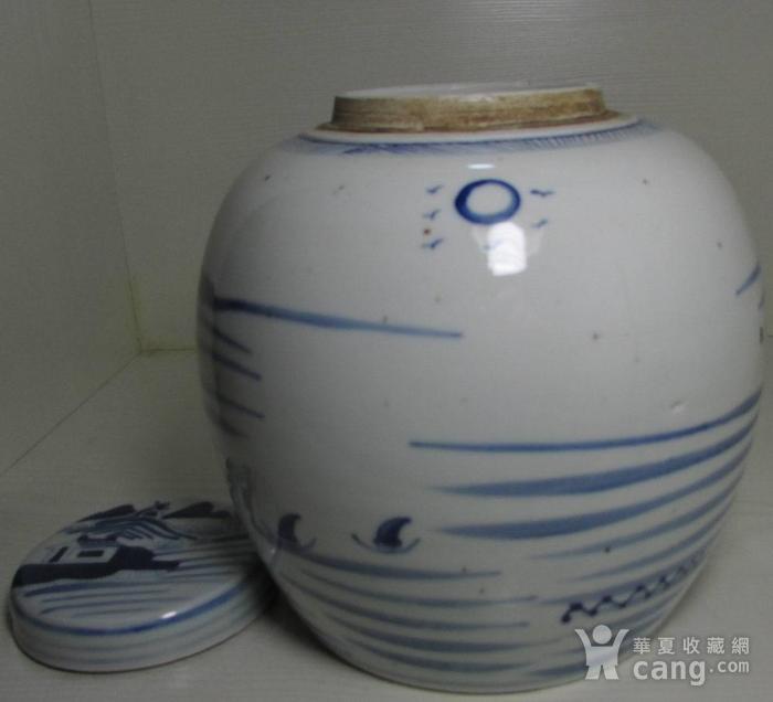 乾隆青花通景山水大罐图4