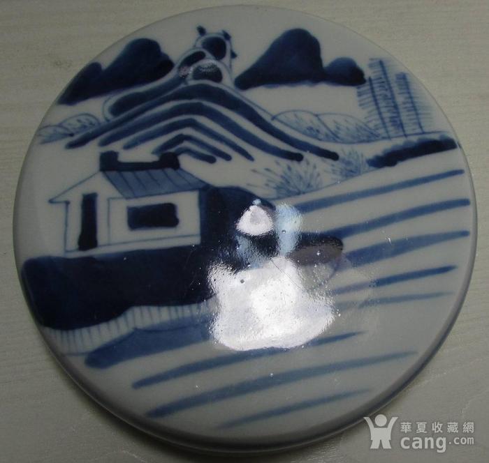 乾隆青花通景山水大罐图9