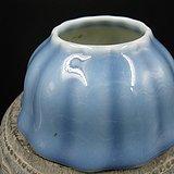 文房瓷天兰釉水洗