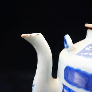 道光年的清花茶壶 保真到代